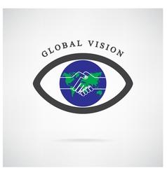Global vision sign vector