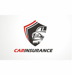graphic icon or logo for car insurance vector image