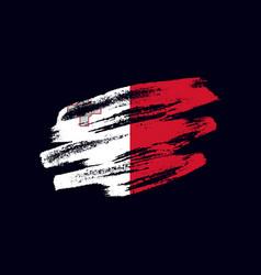 Grunge textured maltese flag vector