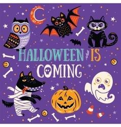 Halloween is coming vector