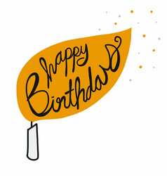 happy birthday candle cartoon vector image