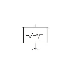 Heart beat monitor pulse line art icon for vector