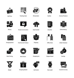 Innovative shopping and commerce icons vector