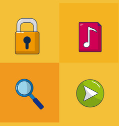 internet and security vector image