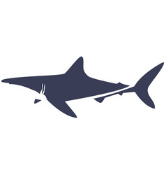 Isolated abstract shark vector