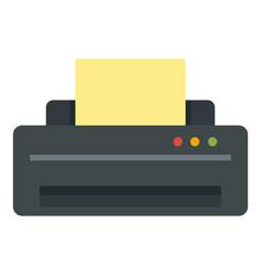 Jet printer icon flat style vector