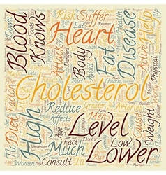 Keep your cholesterol down text background vector