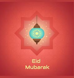 Luminous lamp for muslim community festival eid vector