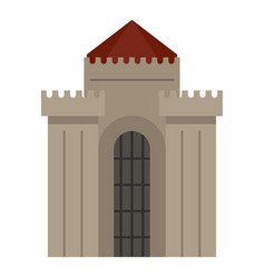 Medieval building icon isolated vector