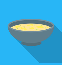 Miso soup icon in flate style isolated on white vector