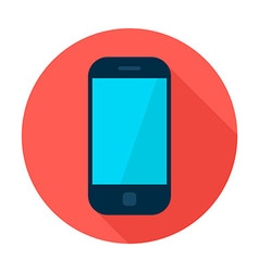 Mobile Phone Flat Circle Icon vector image