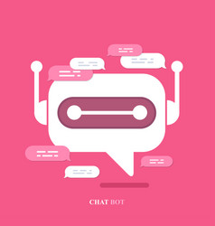 Modern flat chat bot with speech bubble vector