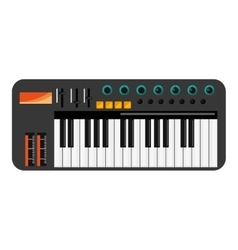 music keyboard icon vector image