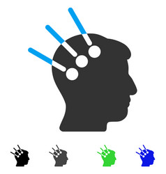 Neural interface flat icon vector