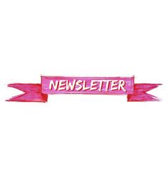 Newsletter ribbon vector