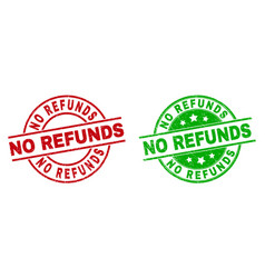 No refunds round stamps with unclean style vector