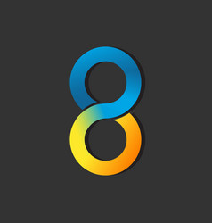 Number 8 eight logo design graphic vector