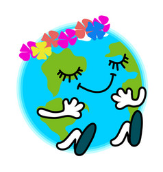 of earth day happy ecology vector image