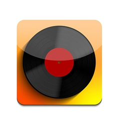 Old vinyl record icon on white background Eps10 vector image