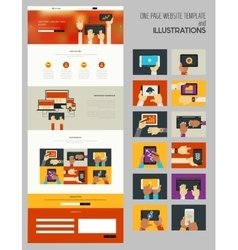 One page mock up vector