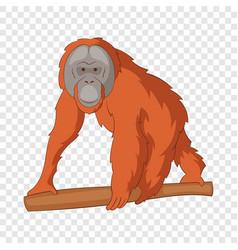 Orangutan icon cartoon style vector