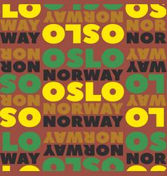 Oslo norway seamless pattern vector