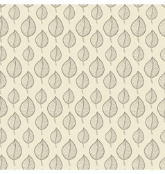 Pattern leafs begh vector image