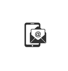phone mail icon vector image