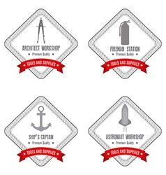 Proffesions Labels vector