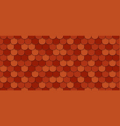 Red roof tiles vector