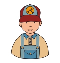 Repair mechanic man icon vector