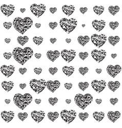 Romantic design with hearts vector
