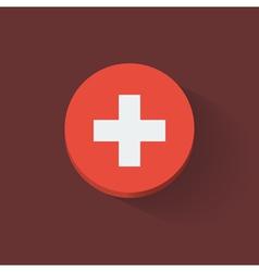 Round icon with flag of Switzerland vector image