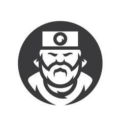 Samurai japan cartoon vector