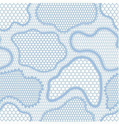 Seamless lace pattern with abstract shapes vector