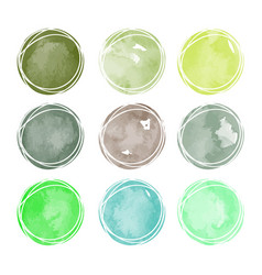 Set of isolated colorful watercolor stains vector