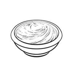 Sketch style drawing of ripe tomato slice vector