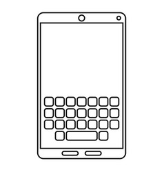 smartphone keypad display line vector image
