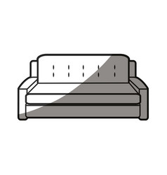 sofa furniture decoration comfort line shadow vector image