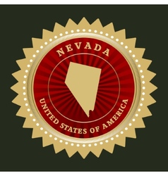 Star label Nevada vector