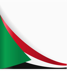 Sudan flag background vector