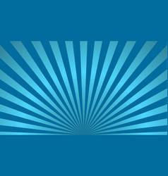 sun rays background blue radiate beam burst vector image