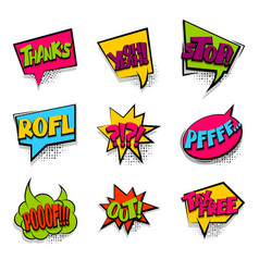 thanks tax free colored comic text babble vector image