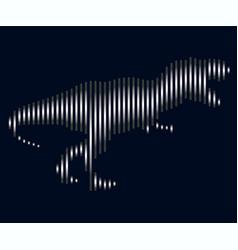the linear of a dinosaur logo vector image