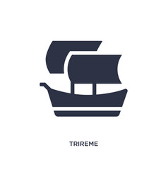Trireme icon on white background simple element vector
