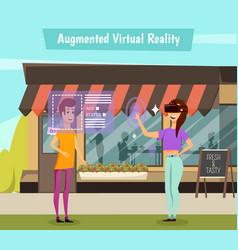 virtual reality orthogonal vector image