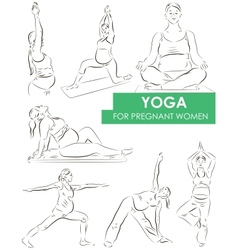 Yoga for pregnant vector image