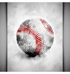 Baseball ball watercolor vector image vector image