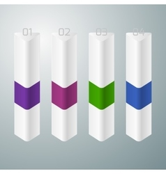 four vertical triangle vector image