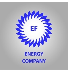 logo energy efficiency eco energy sun vector image vector image